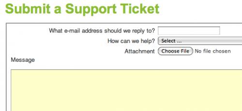 Open a support ticket
